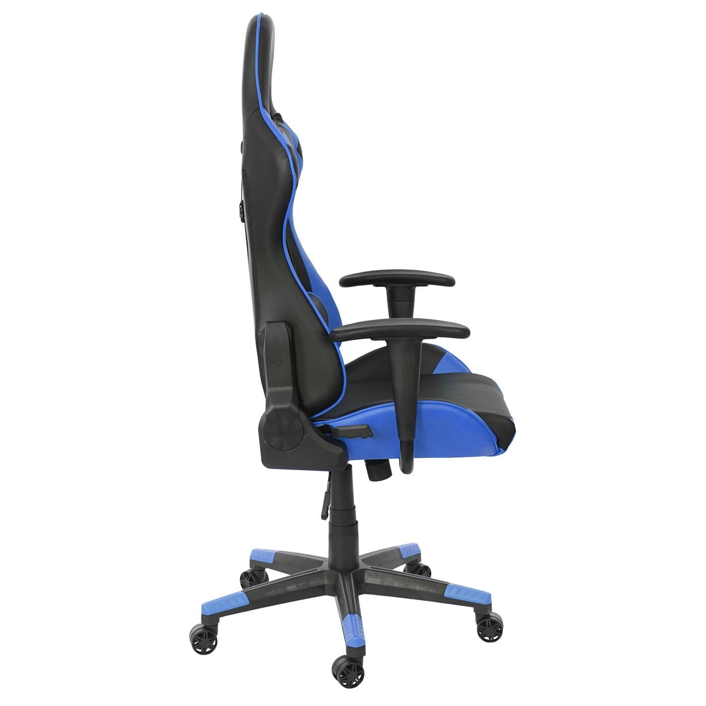 Gamingstuhl Bürostuhl HWC-D25 150kg belastbar Kunstleder schwarz//grau