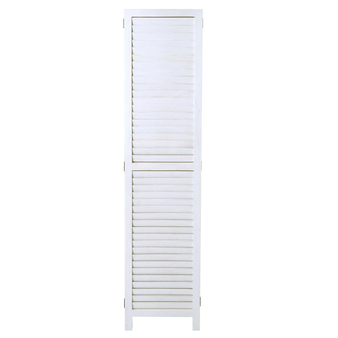 Paravent HWC-C30 Raumteiler Trennwand Sichtschutz Shabby Vintage 170x120cm weiß
