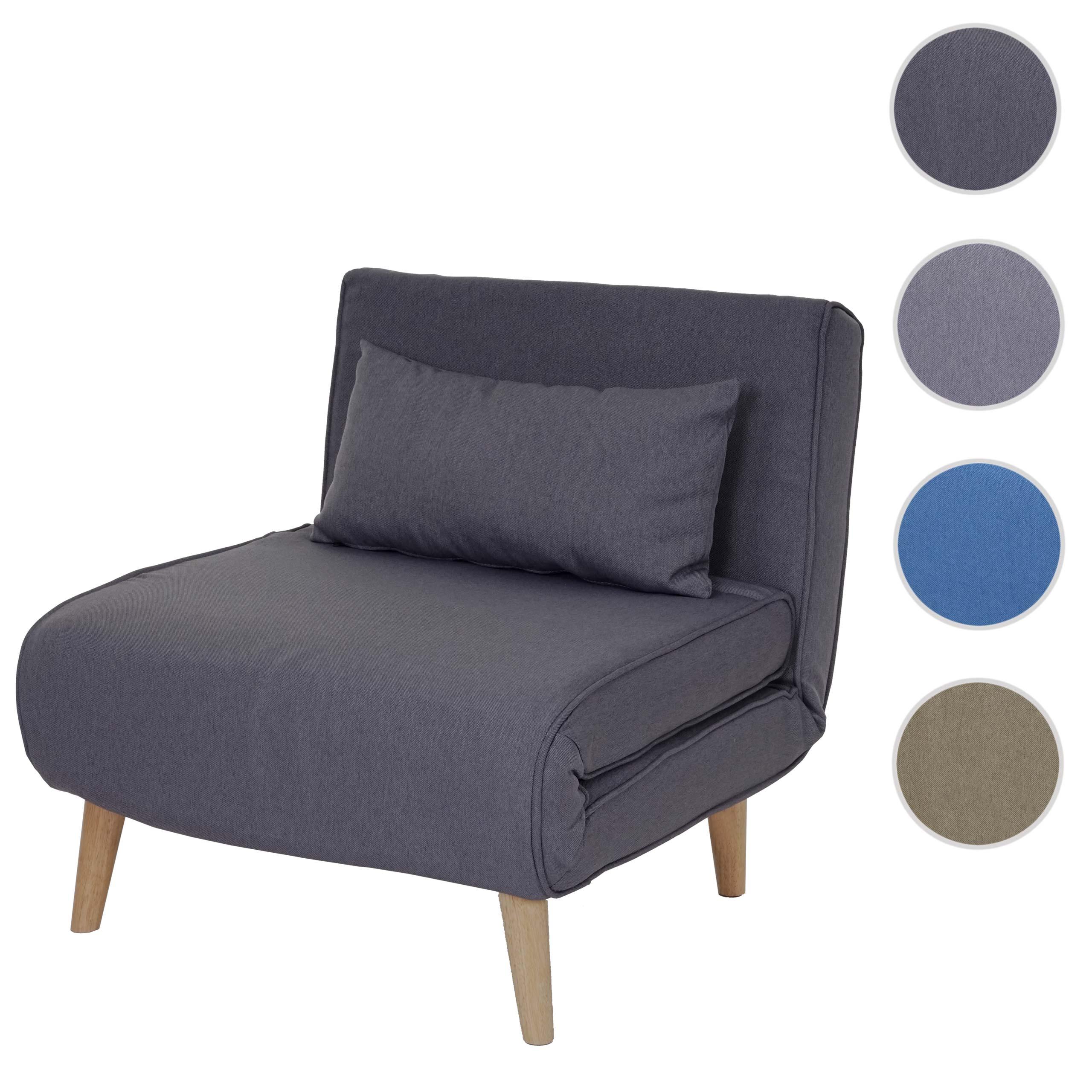 Mendler Schlafsessel HWC-D35, Schlafsofa Funktionssessel Klappsessel Relaxsessel Jugendsessel Sessel, Stoff/ 62744