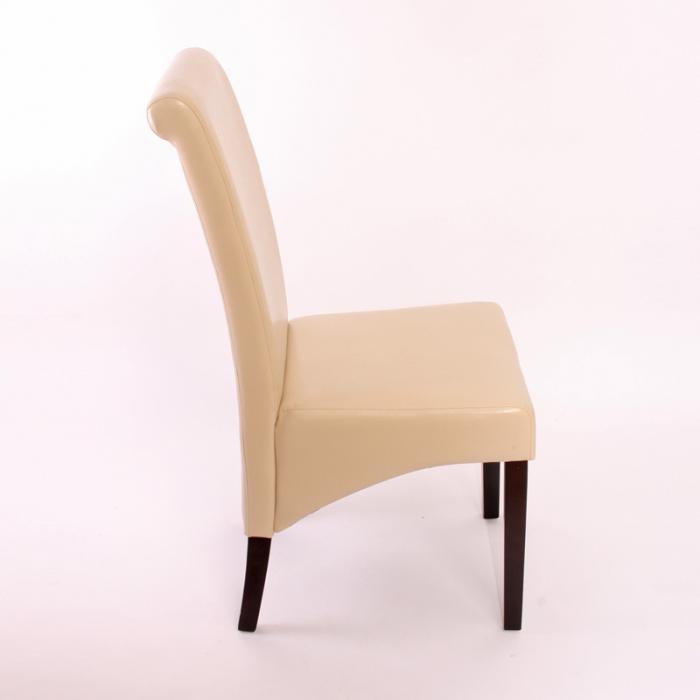2x esszimmerstuhl lehnstuhl stuhl m37 leder creme dunkle f e. Black Bedroom Furniture Sets. Home Design Ideas