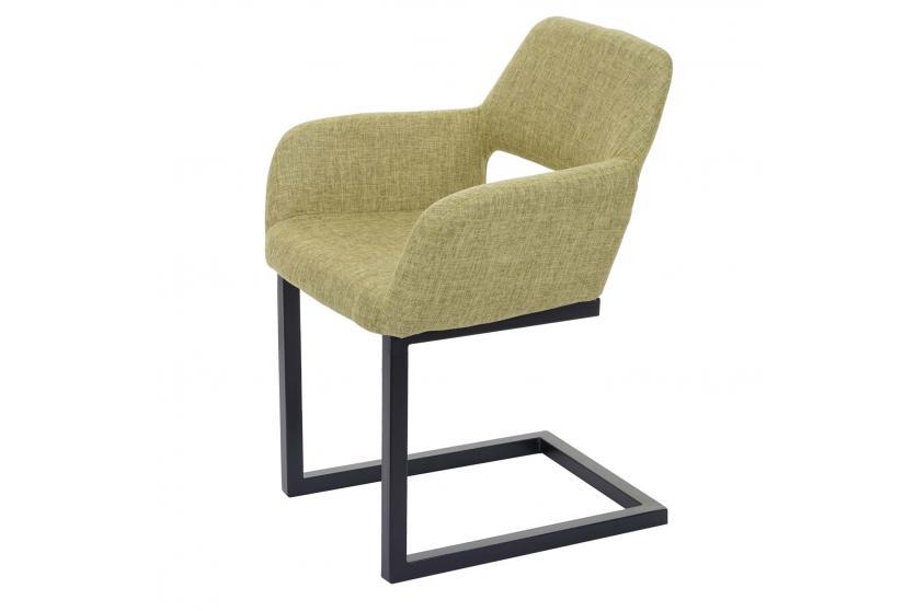 esszimmerstuhl hwc a50 ii freischwinger stuhl lehnstuhl retro 50er jahre design stoff hellgr n. Black Bedroom Furniture Sets. Home Design Ideas