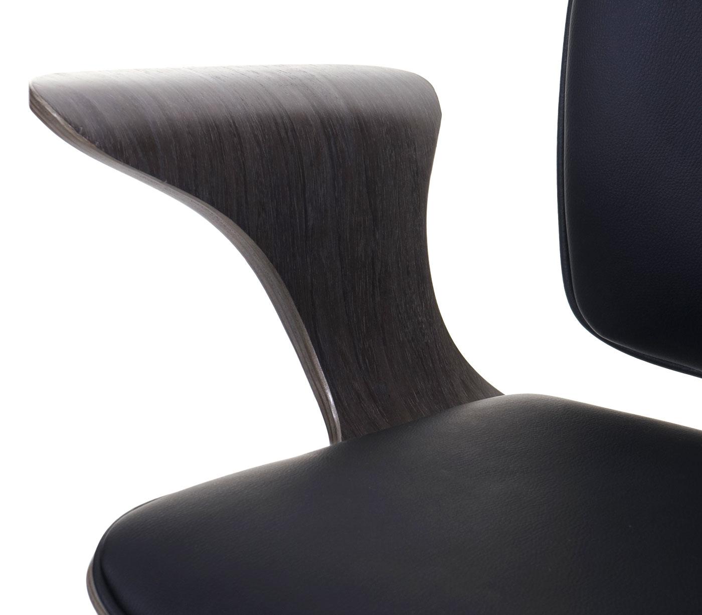 Details Bürostuhl HWC-C54, Grau Sitzfläche schwarz