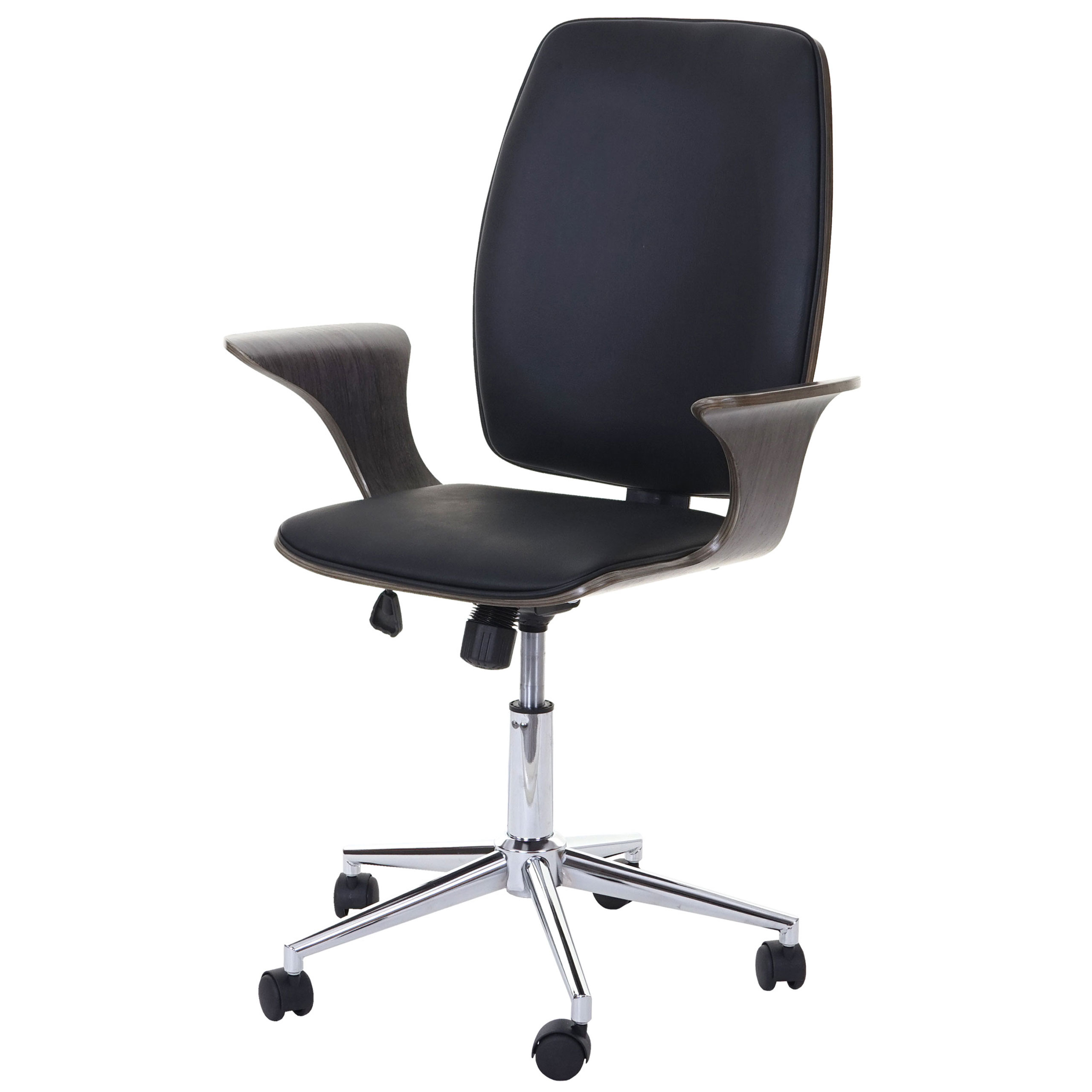 Bürostuhl HWC-C54, Grau Sitzfläche schwarz