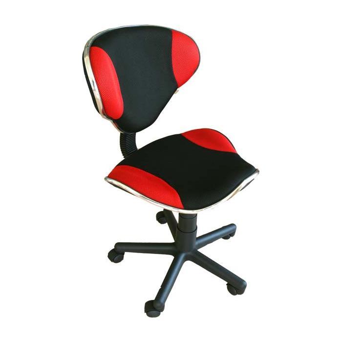 Bürosessel netz  Drehstuhl Genua, atmungsaktives Netz, ergonomische Form ~ rot