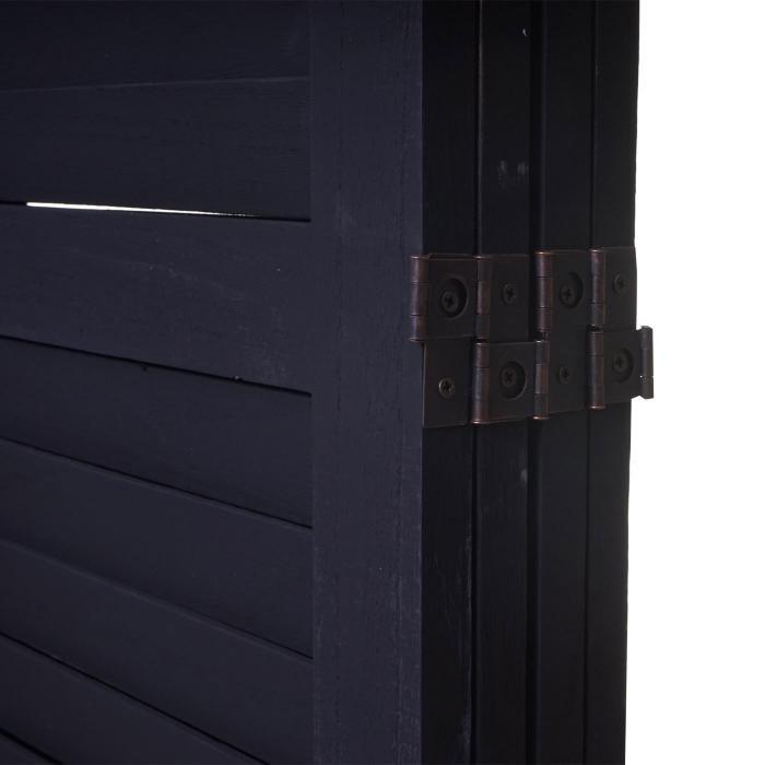 Vintage braun weiß grau dunkelgrau Paravent Raumteiler 170x182x2cm Shabby-Look