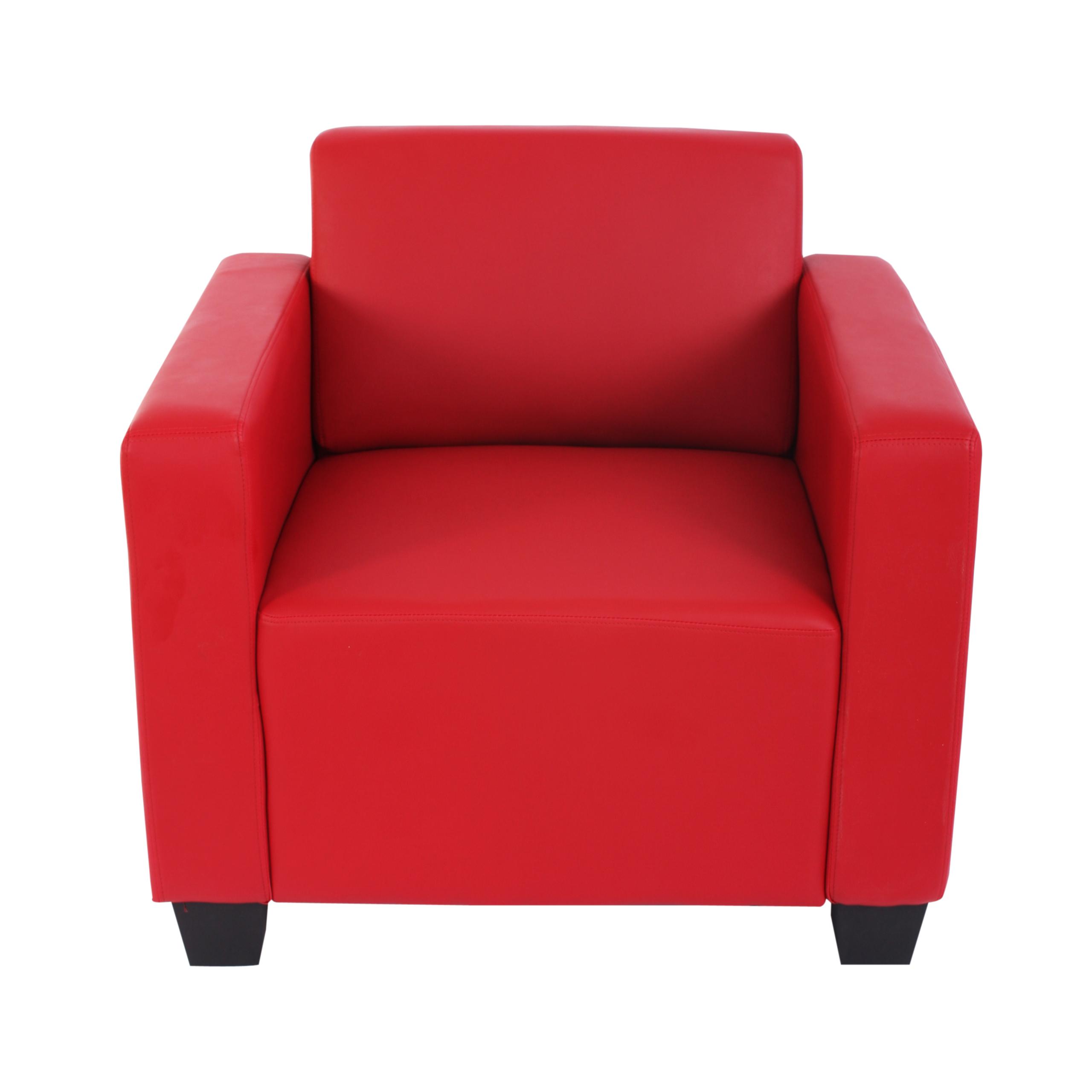 modular sofa system couch garnitur lyon 4 1 kunstleder rot. Black Bedroom Furniture Sets. Home Design Ideas