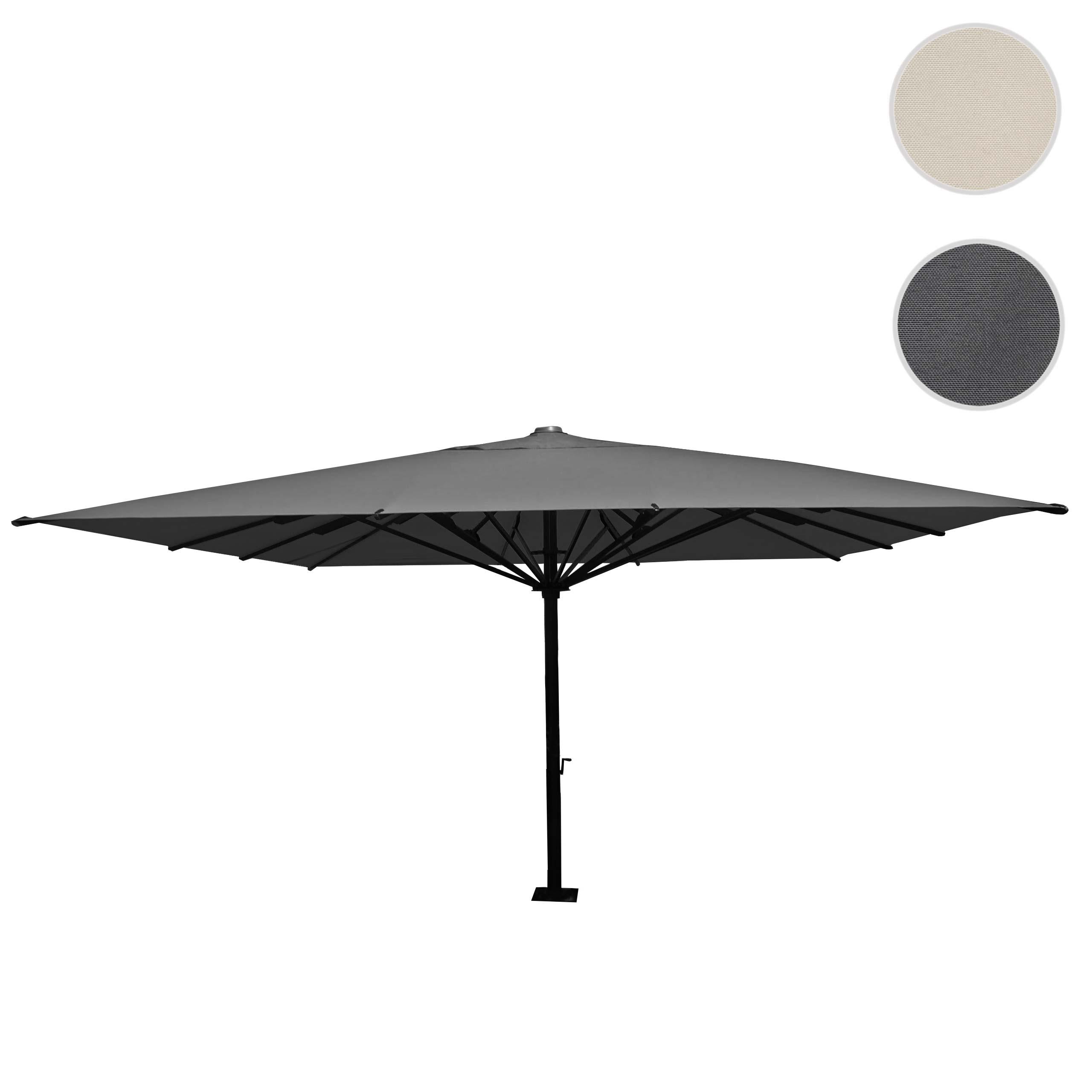 Mendler Gastronomie-Luxus-Sonnenschirm HWC-D20, XXL-Schirm Marktschirm, 5x5m (Ř7,2m) Polyester/Alu 75kg ~ Va 58554