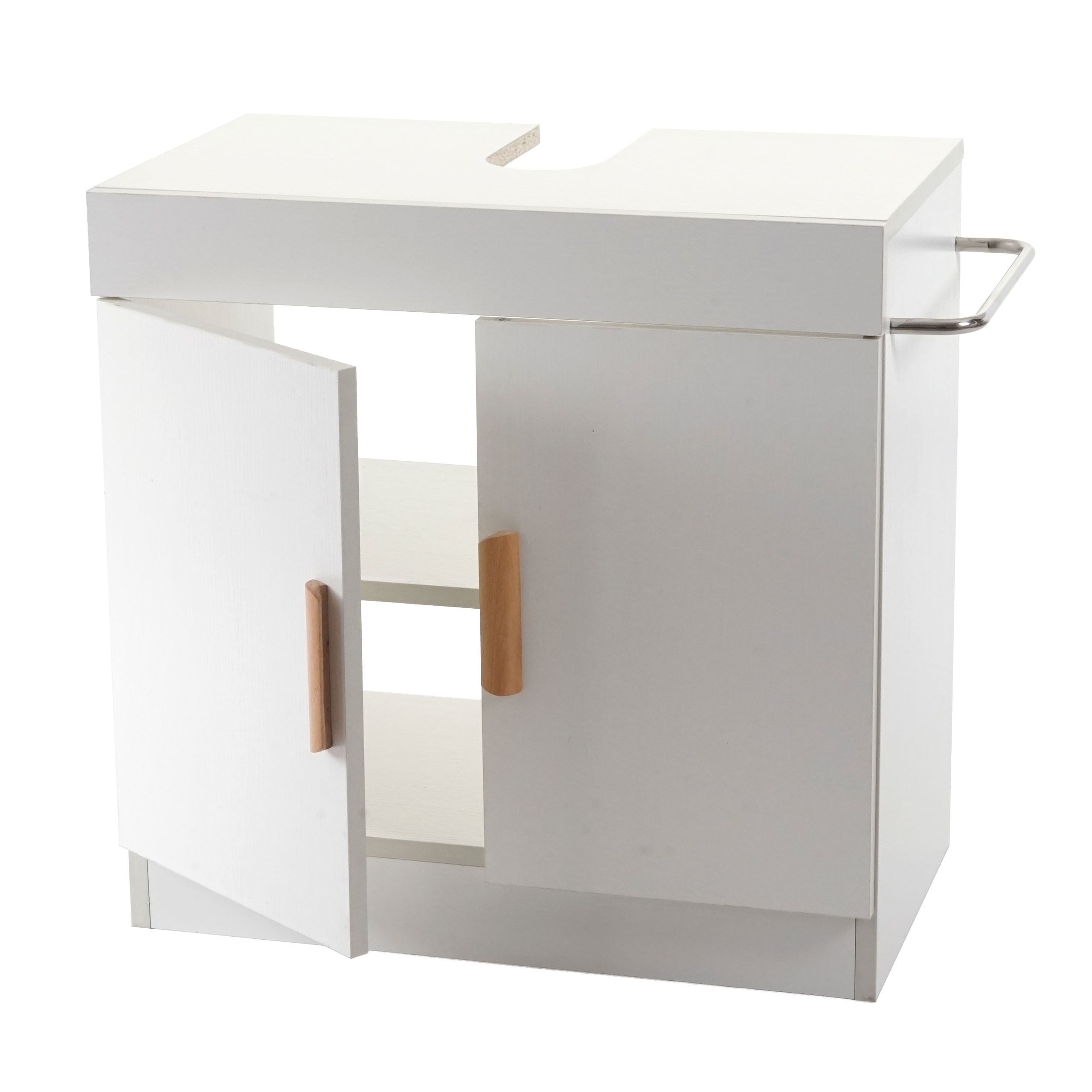 Waschbeckenunterschrank Hwc D55 Badschrank Mit Staufach Badezimmer