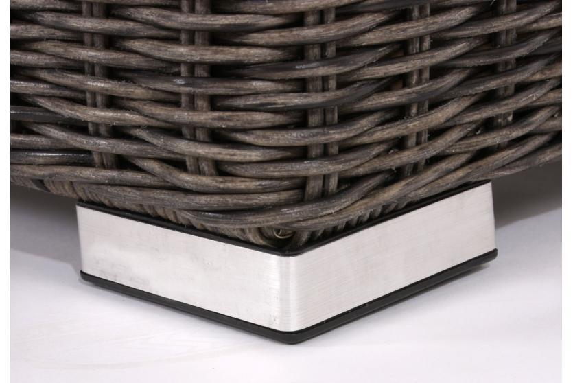 3x Basismodul für Poly-Rattan Sofa Siena, modulare Gastronomie ...