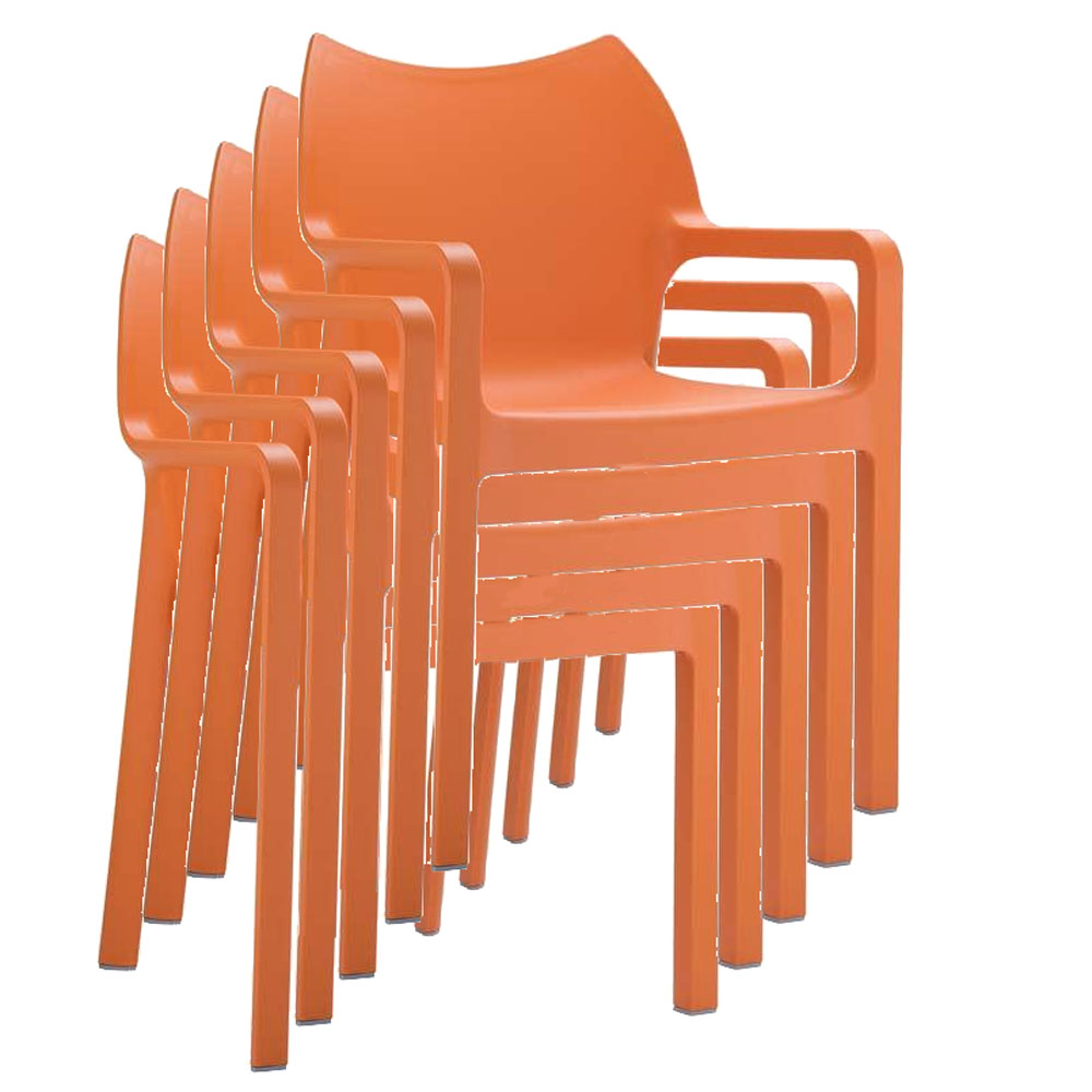 stapelstuhl bistrostuhl gartenstuhl kunststoff c43 orange. Black Bedroom Furniture Sets. Home Design Ideas