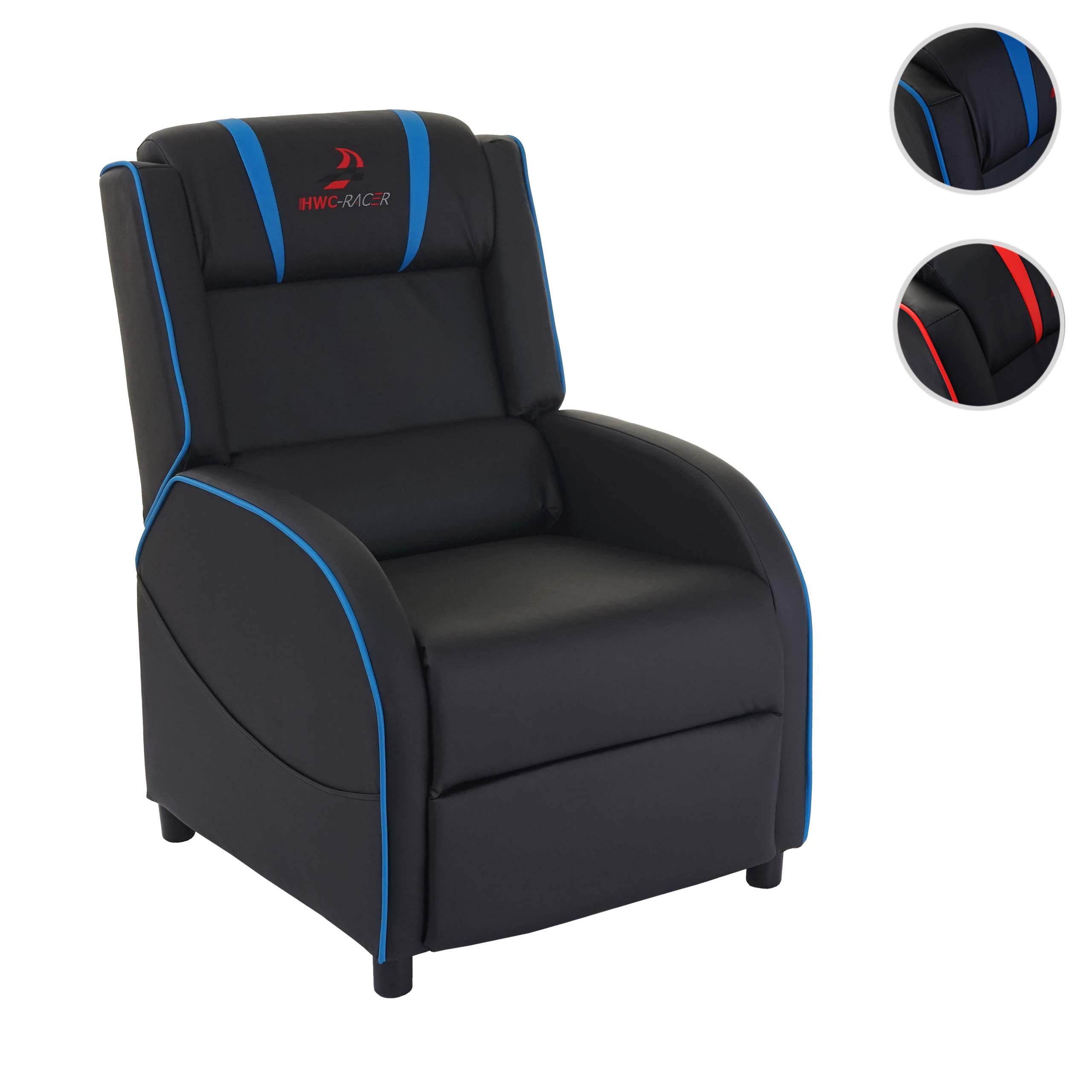 Mendler Fernsehsessel HWC-D68, HWC-Racer Relaxsessel TV-Sessel Gaming-Sessel, Kunstleder ~ Variantenangebot 64110