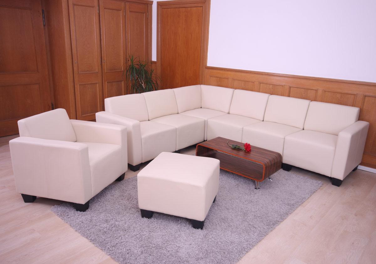 Modular sessel loungesessel mit ottomane lyon kunstleder for Sessel kunstleder