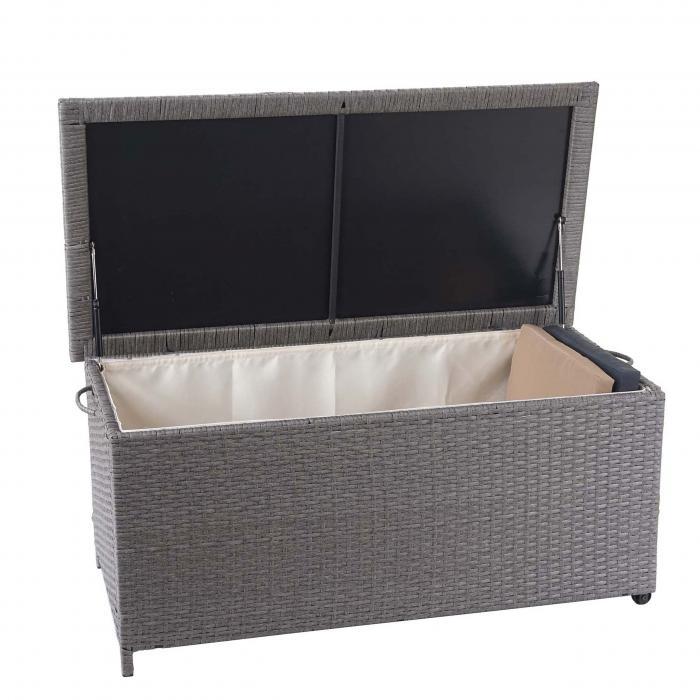 Super Poly-Rattan Kissenbox HWC-D88, Gartentruhe Auflagenbox Truhe PT76