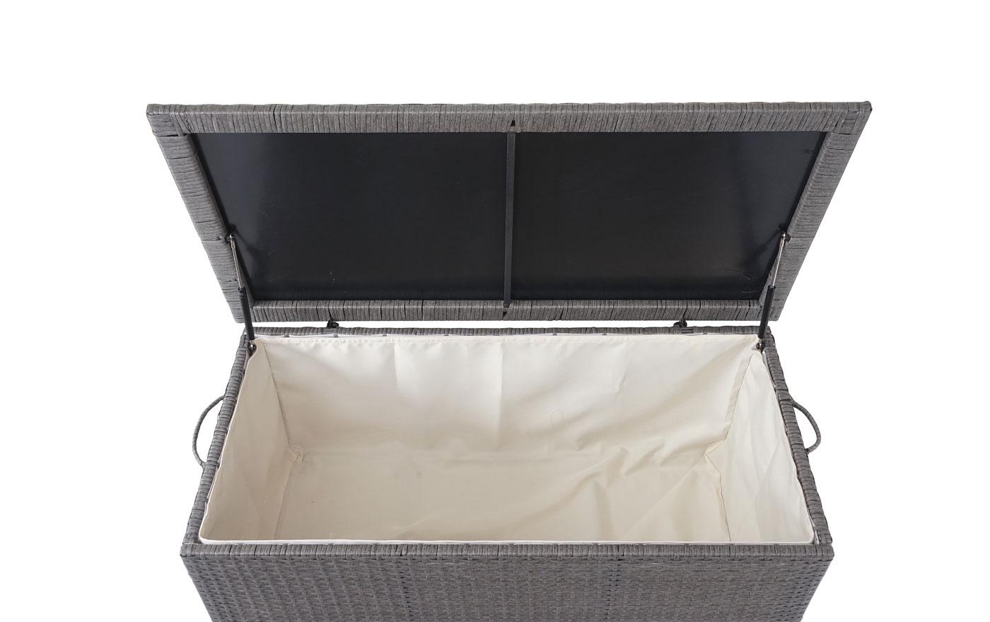 Poly-Rattan Kissenbox HWC-D88