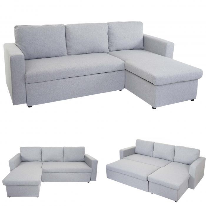 Schlafsofa Hwc D92 Couch Ecksofa Sofa Schlaffunktion 220x152cm