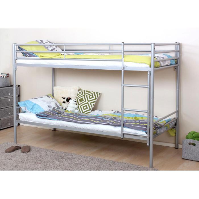 etagenbett hwc d93 hochbett g stebett bett metallbett stockbett mit leiter 90x200cm. Black Bedroom Furniture Sets. Home Design Ideas