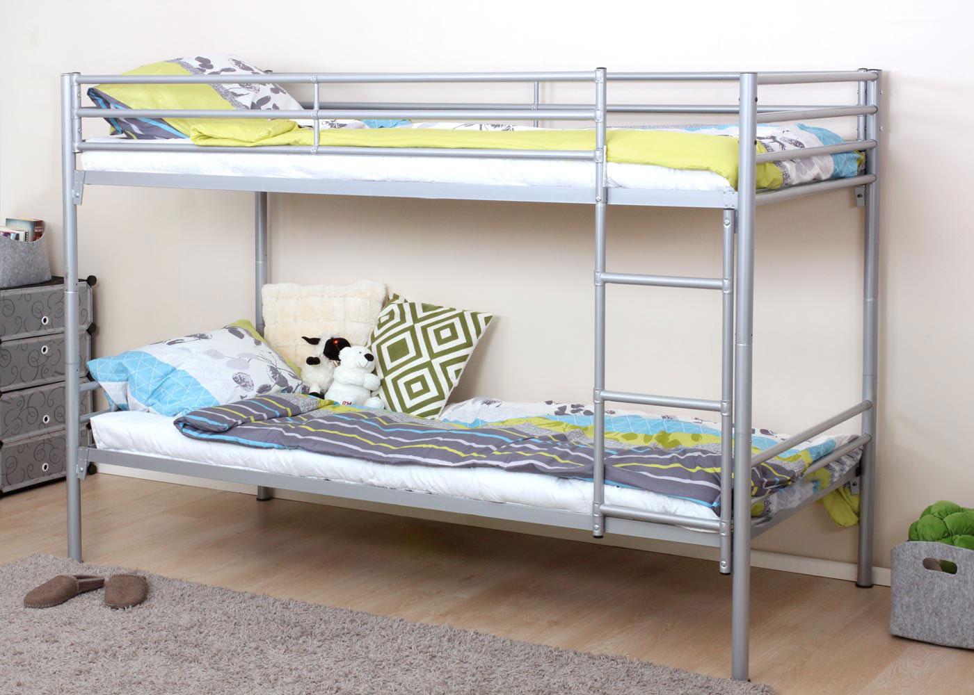 Etagenbett Leiter : Etagenbett hwc d hochbett gästebett bett metallbett stockbett
