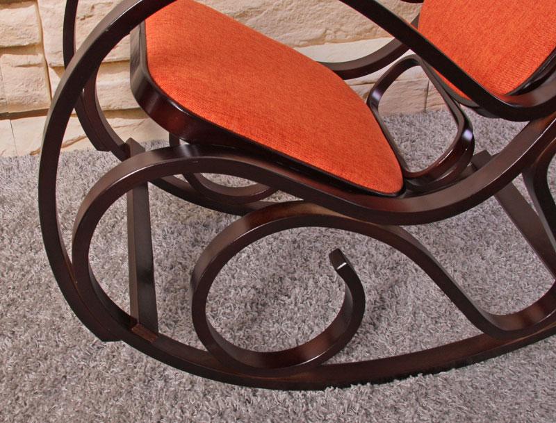 Schaukelstuhl schwingsessel m41 mit stoffbezug for Schaukelstuhl orange
