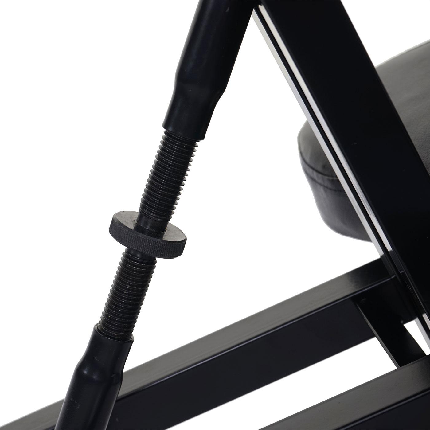 Kunstleder Metall schwarz Kniehocker höhenverstellbar Kniestuhl MCW-E10
