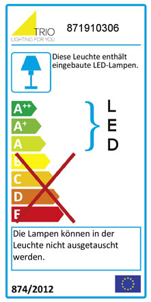 Label Deckenleuchte RL 195 3-flammig