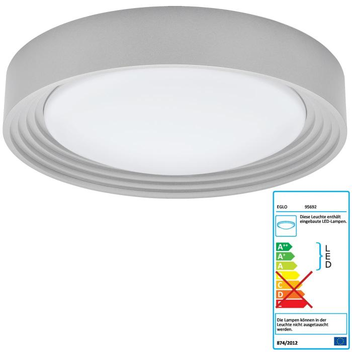 eglo led deckenleuchte rl189 deckenlampe badleuchte inkl leuchtmittel eek a 11w. Black Bedroom Furniture Sets. Home Design Ideas