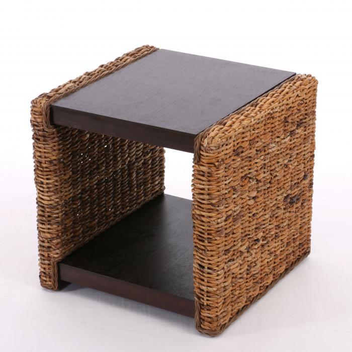 beistelltisch nachttisch sitzhocker lucca rattan bananengeflecht. Black Bedroom Furniture Sets. Home Design Ideas