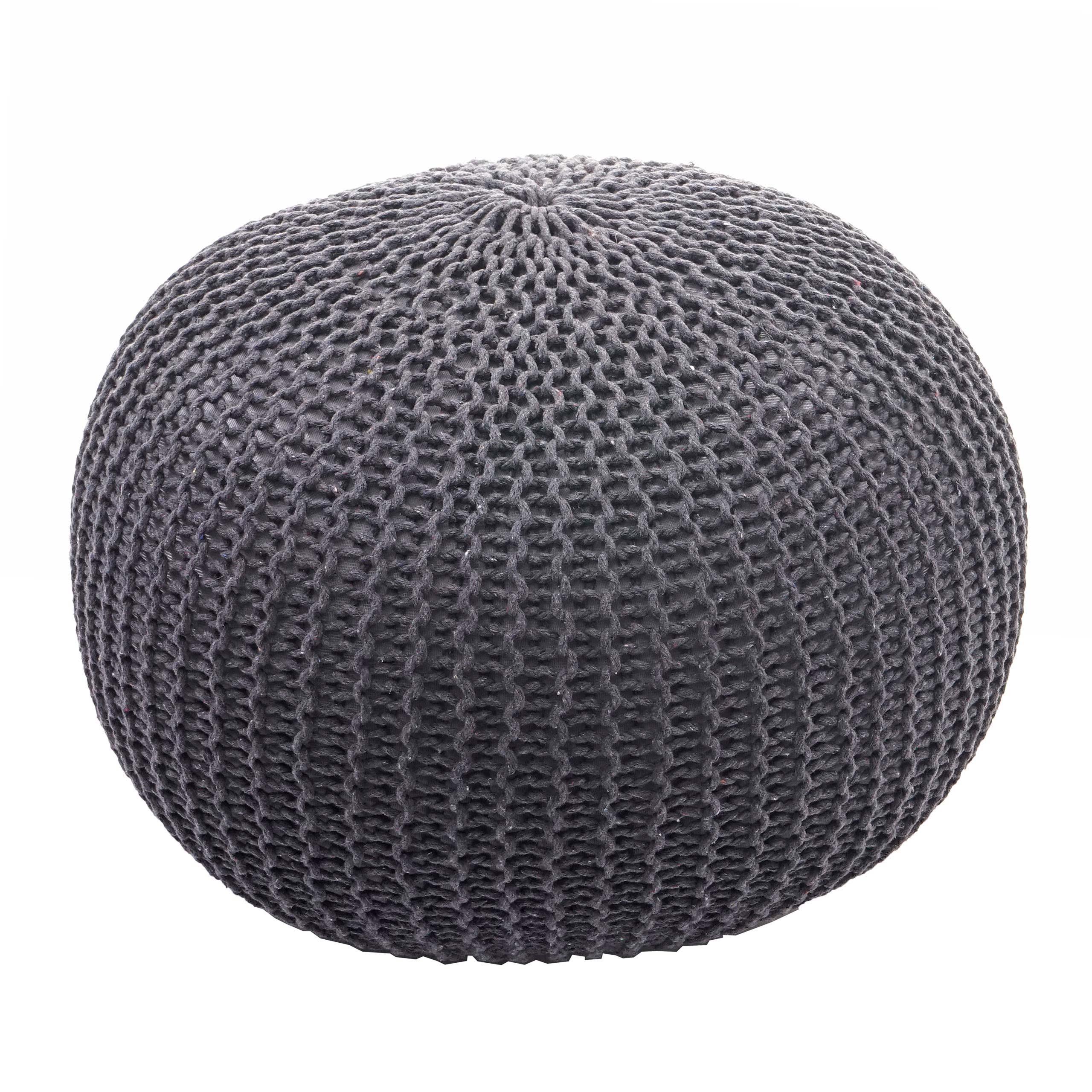 Pouf In Cotone Effetto Maglia arredo-oggi lo shop online per l'arredamento e il design a