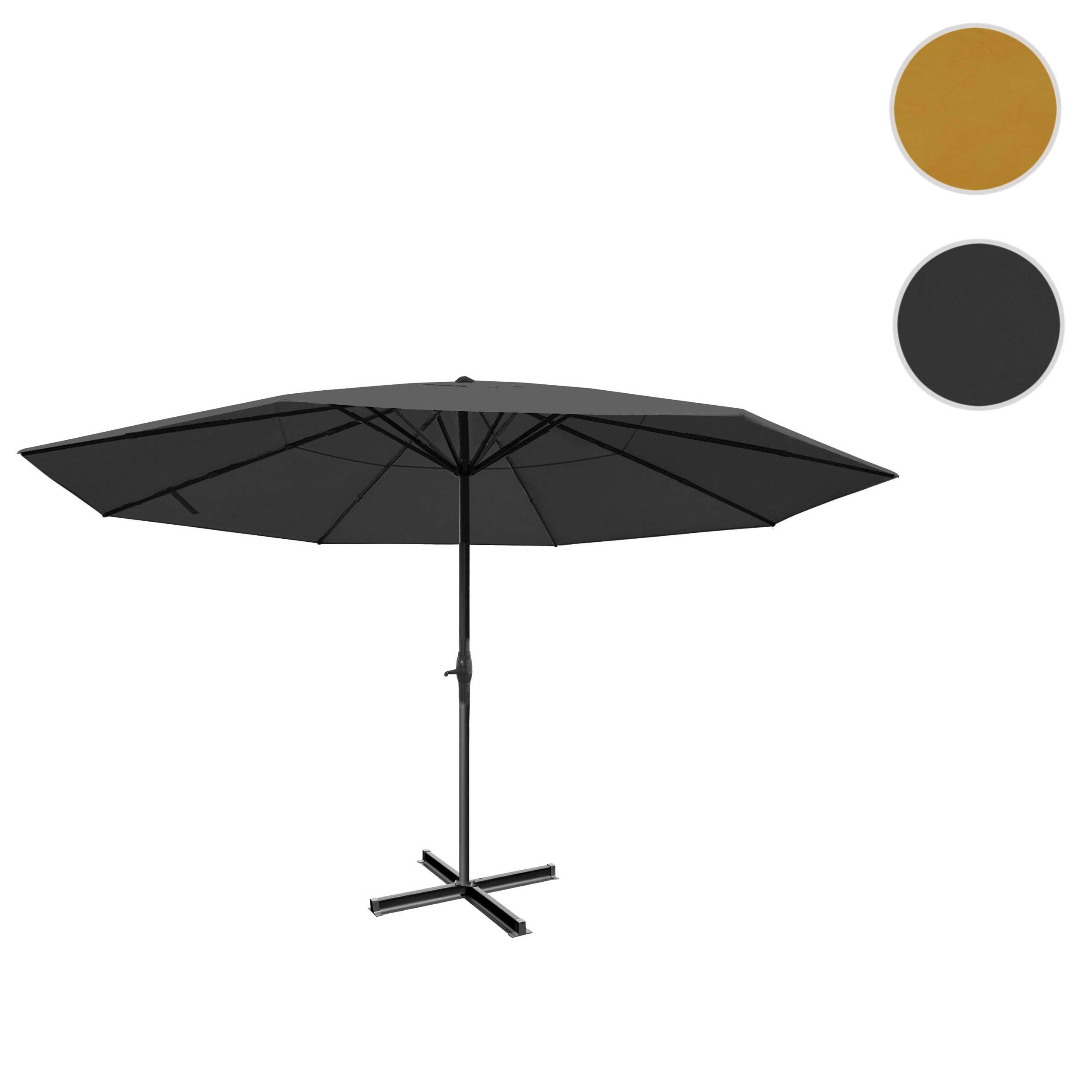 Mendler Sonnenschirm Meran Pro, Gastronomie Marktschirm ohne Volant Ř 5m Polyester/Alu 28kg ~ Variantenangeb 34348