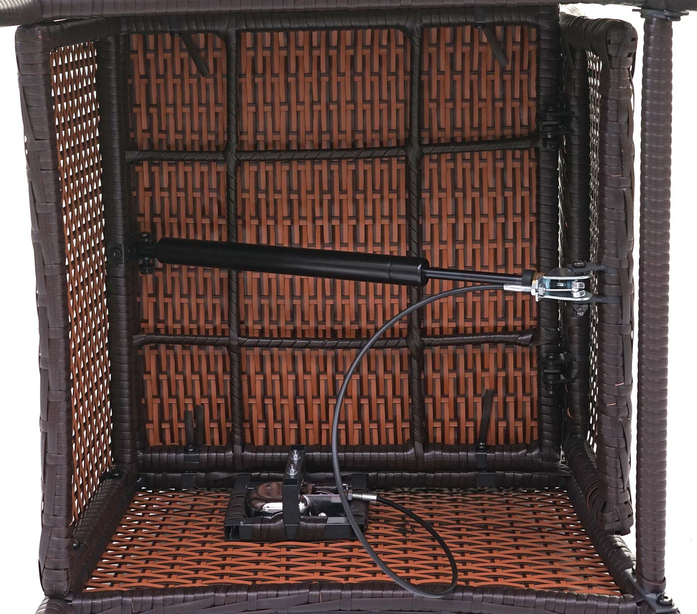 HWC-E22 Poly-Rattan Sessel verstellbar braun 65202