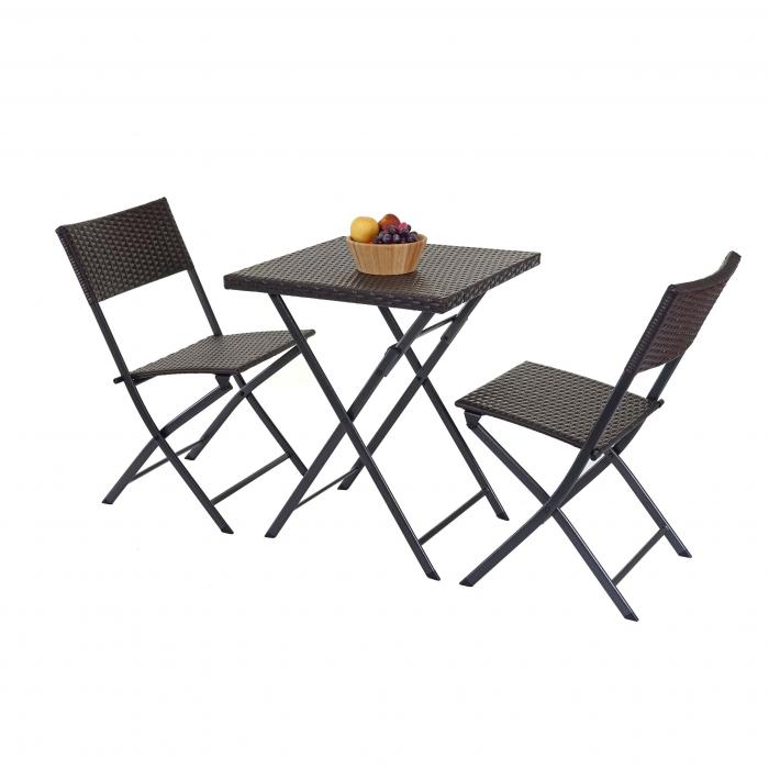Poly Rattan Balkonset Hwc E23 Garnitur Sitzgruppe Gartengarnitur