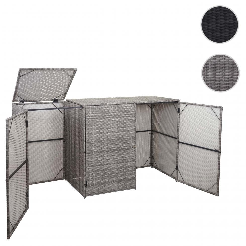 Mülltonnenbox Mülltonnenabdeckung Mülltonnenverkleidung HWC-E25 120l