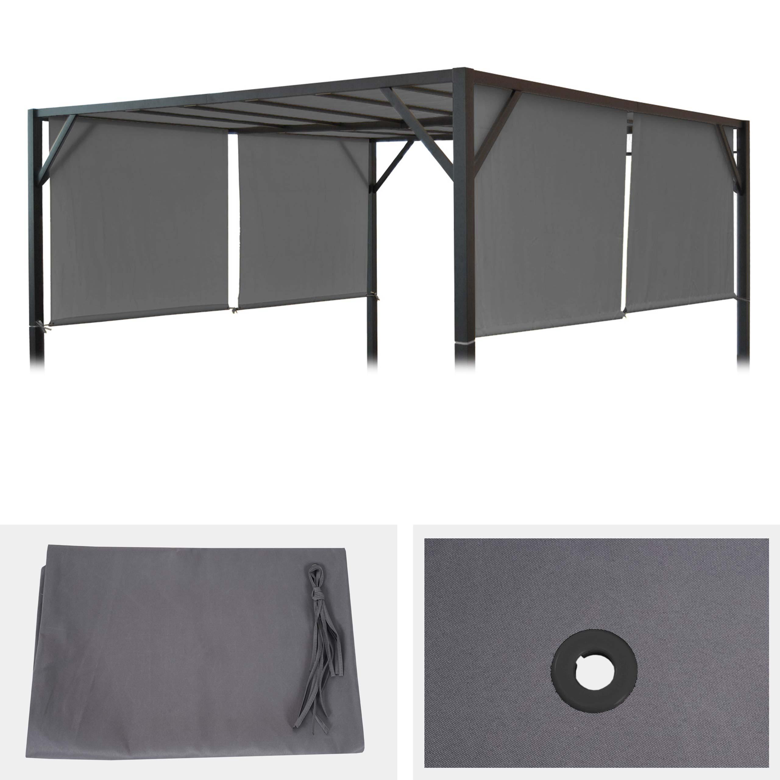 ersatzbezug f r dach pergola pavillon baia 4x4m grau. Black Bedroom Furniture Sets. Home Design Ideas
