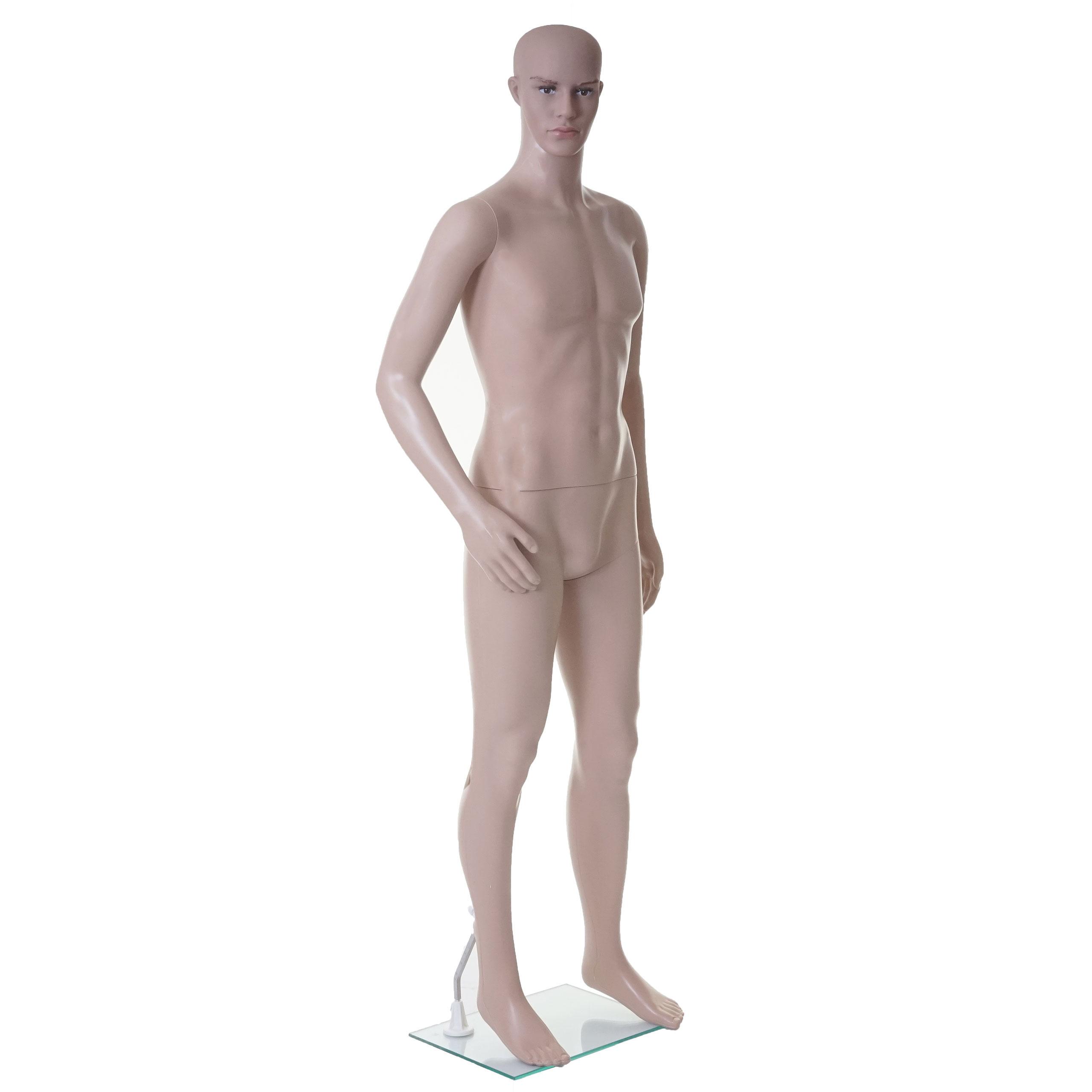 Mendler Schaufensterpuppe HWC-E37, männlich Mann Schaufensterfigur Puppe Mannequin Schneiderpuppe, lebensgro 65491