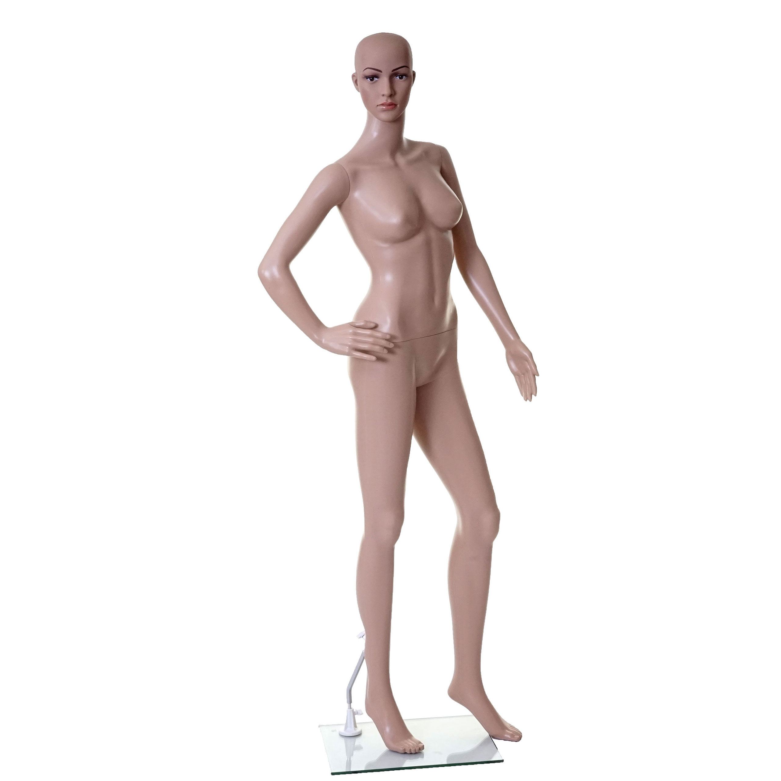 Mendler Schaufensterpuppe HWC-E37, weiblich Frau Schaufensterfigur Puppe Mannequin Schneiderpuppe, lebensgro 65492