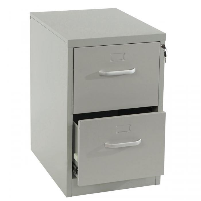 Boston T238, Aktenschrank Büroschrank Stahlschrank, 73x46x62cm ~ grau