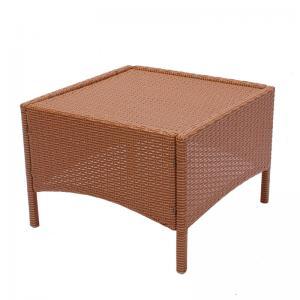 beistelltisch gartentisch rom poly rattan 58x58x42cm rot braun ohne glasplatte. Black Bedroom Furniture Sets. Home Design Ideas