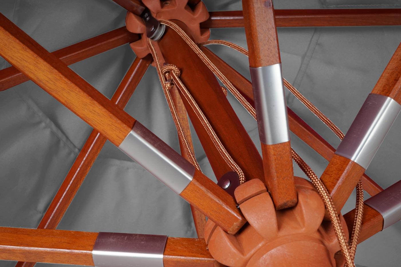 Holz-Sonnenschirm HWC-C57
