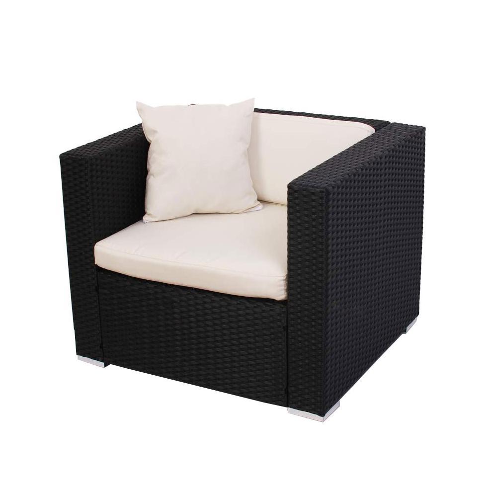 Modulares poly rattan sofa alessandria anthrazit sessel ebay for Rattan loungemobel anthrazit