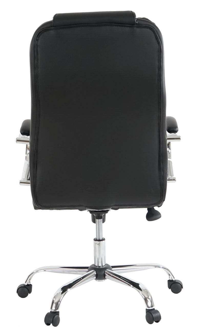 fauteuil de bureau am ricain kansas xxl 150kg similicuir blanc marron noir ebay. Black Bedroom Furniture Sets. Home Design Ideas