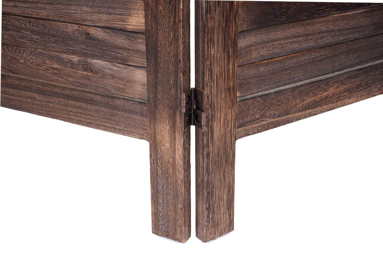 Paravento In Legno Per Esterni dettagli su paravento divisorio separè legno shabby hwc-g30 3 pannelli