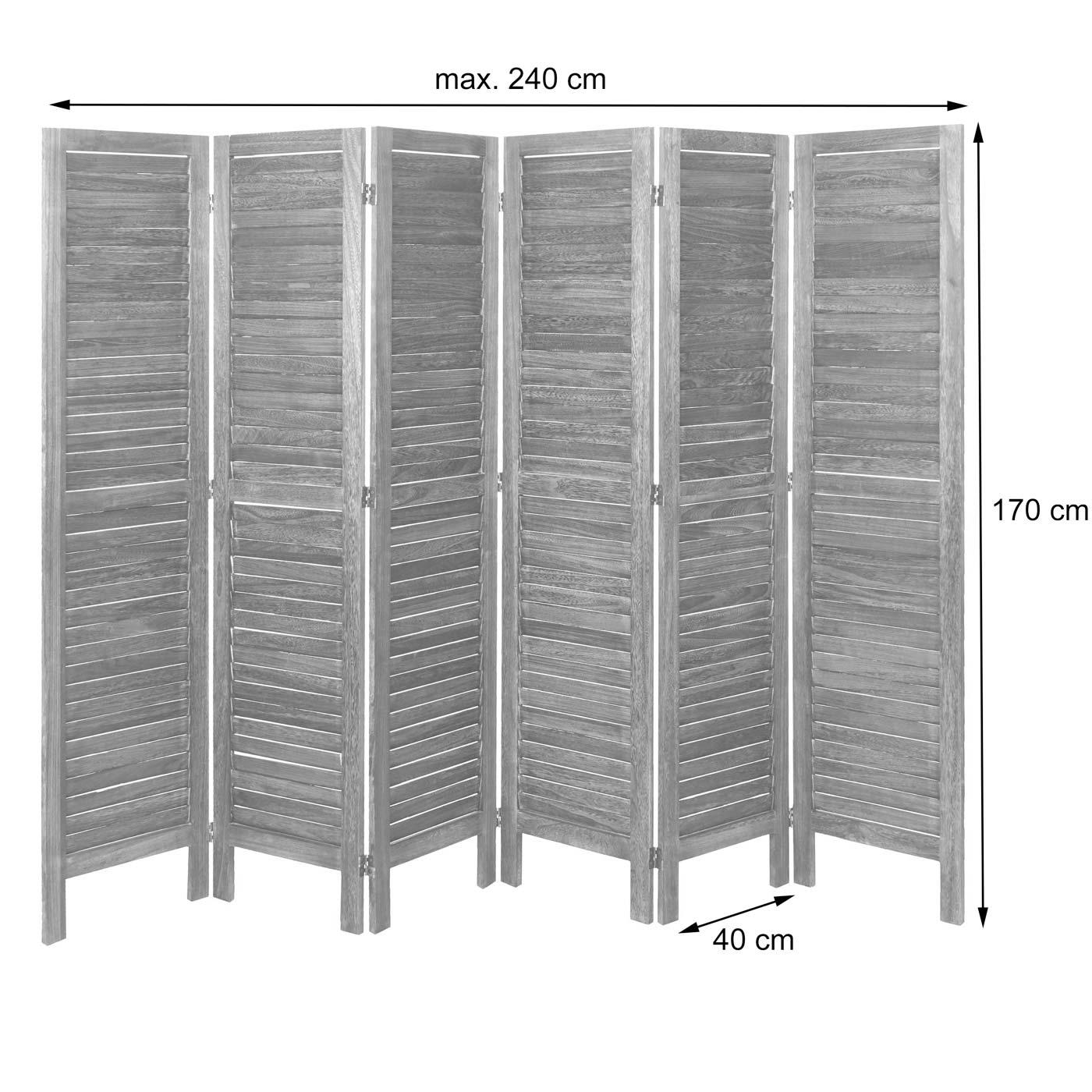 Paravento In Legno Per Esterni dettagli su paravento divisorio separè legno shabby hwc-g30 6 pannelli