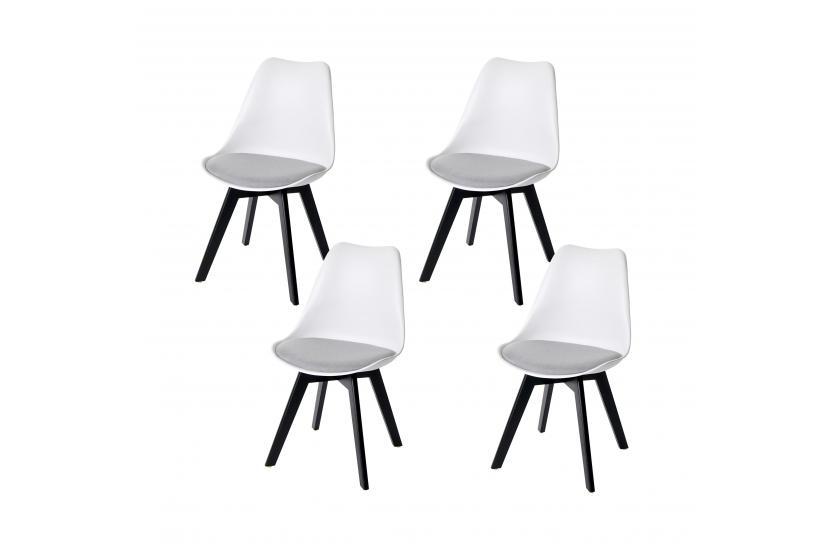 4x Esszimmerstuhl HWC E53 Stuhl Küchenstuhl Retro Design