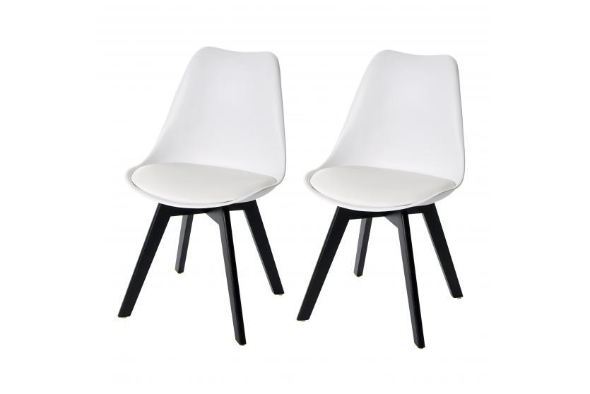 2x Esszimmerstuhl HWC E53 Stuhl Küchenstuhl Retro Design