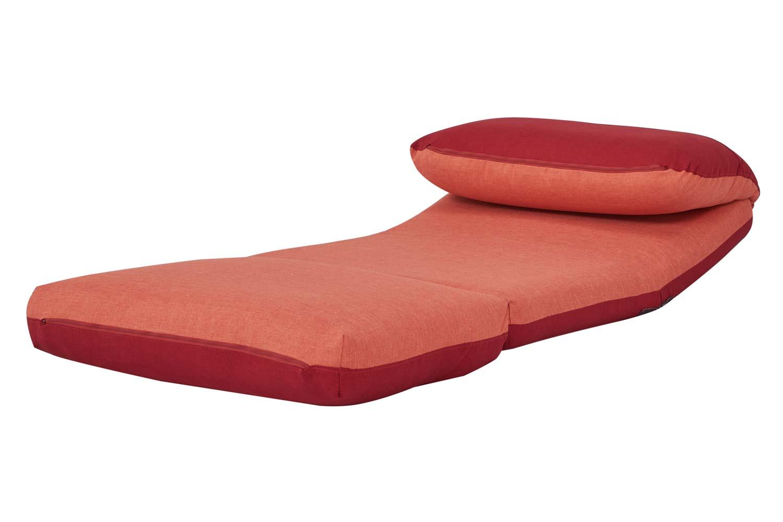 Relaxsessel B-Ware Schlafsessel MCW-E68 Stoff//Textil hellblau//dunkelblau