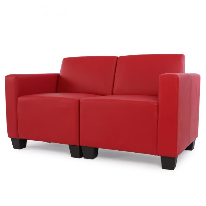 modular 2 sitzer sofa couch lyon kunstleder rot. Black Bedroom Furniture Sets. Home Design Ideas