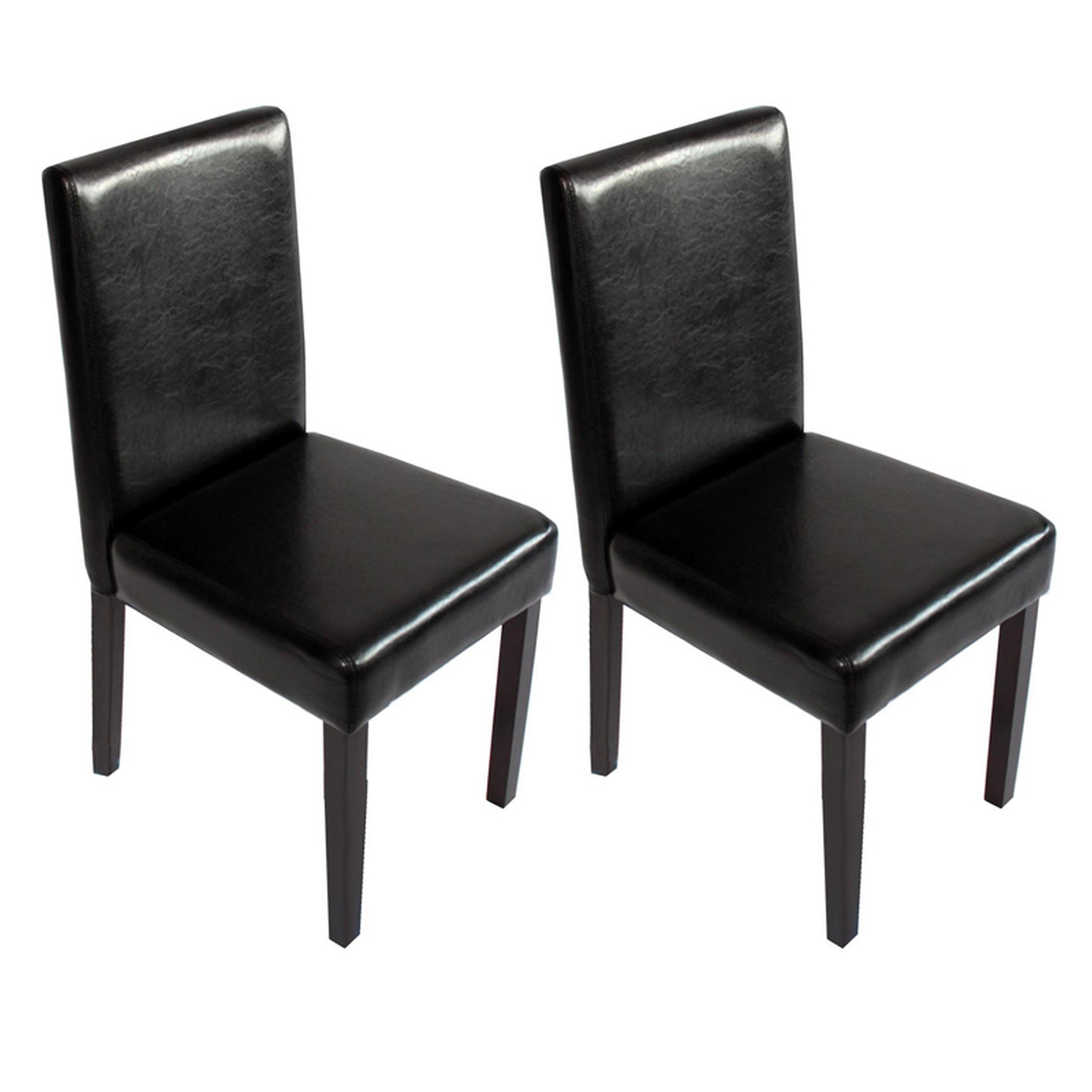 2x esszimmerstuhl stuhl lehnstuhl littau kunstleder for Esszimmerstuhl schwarz kunstleder