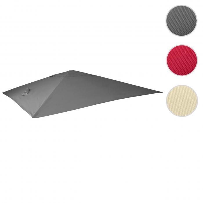 Polyester 4kg Ersatzbezug 3,5x3,5m Bezug für Luxus-Ampelschirm HWC Ø4,95m