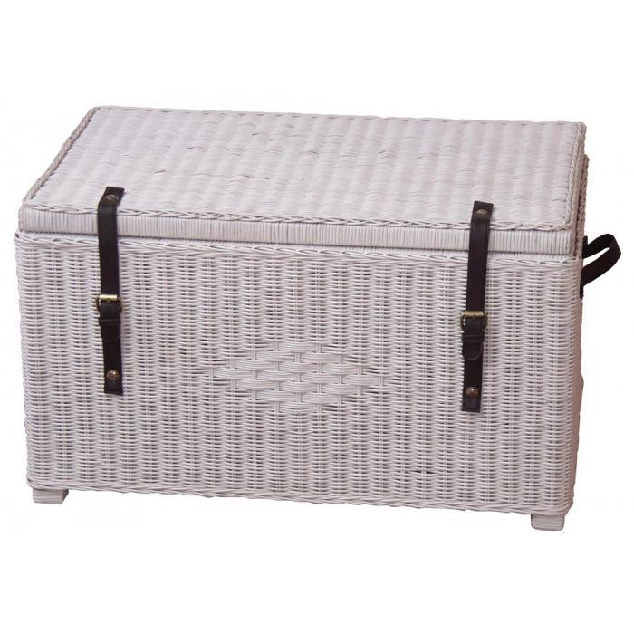 w schetruhe h119 aufbewahrungstruhe sitzbank sitztruhe rattan handgeflochten wei. Black Bedroom Furniture Sets. Home Design Ideas