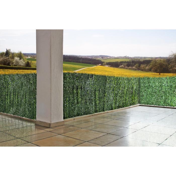 Sichtschutz Windschutz Verkleidung für Balkon Terrasse Zaun ~ Tanne breit  300 x 100 cm