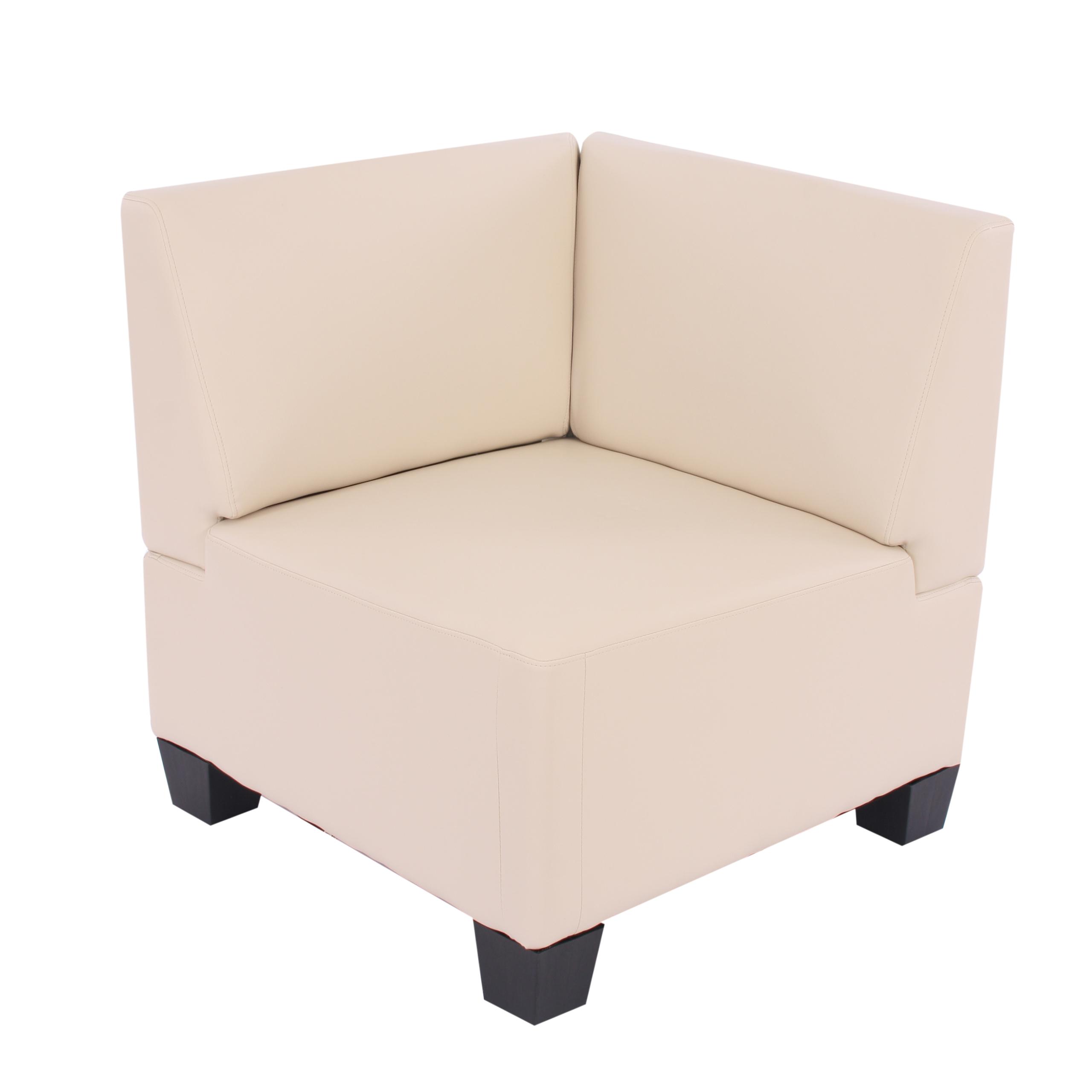 modular sofa system couch garnitur lyon 6 1 kunstleder creme. Black Bedroom Furniture Sets. Home Design Ideas